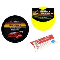Kit-Cera-Super-Protetora-Paste-Wax-3M---Aplicador---Pano-Microfibra