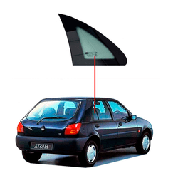 Vidro-Porta-Traseira-Fixo-Fiesta-4-Portas-96-02-Lado-Direito