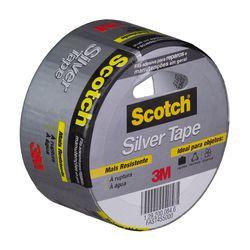 Fita-Silver-Tape-Scotch-Cinza-45mm-X-5m-3m-Oficial