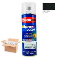 Tinta-Spray-Automotiva-Colorgin-Preto-Fosco-300mL-12Un