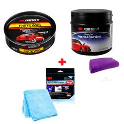 Kit-3M-Cera-Super-Protetora-Paste-Wax---Pasta-Abrasiva---Pano-Ultra-Perfomance