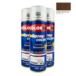 Caixa-com-3UN-Tinta-Spray-Automotiva-Colorgin-Cinza-Placa-300mL